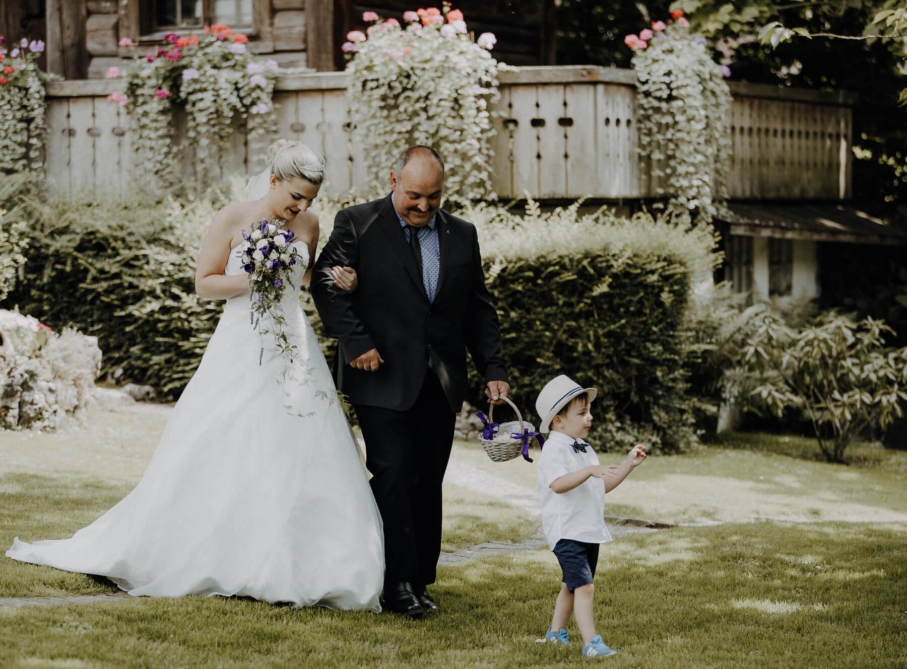 Einzigartige Hochzeitsfotos Braut Brautvater Patrick Schorer Fotografie